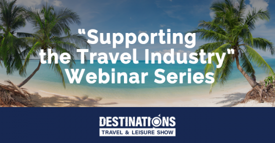 """Supporting the Travel Industry"" is a weekly series of virtual talks designed to help travel entrepreneurs, innovators, and business owners navigate the uncertain times of COVID-19.  Each session features one topic and one or two speakers who can provide practical insights on managing your travel business during this challenging time. Click here to learn more."